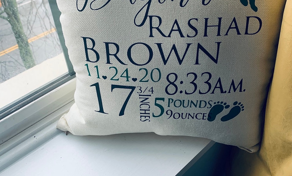 Child Reveal or Birthday Pillow is