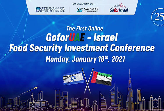 Limor Stoller presenting at the GoforUAE-Israel Food Security Investment Conference