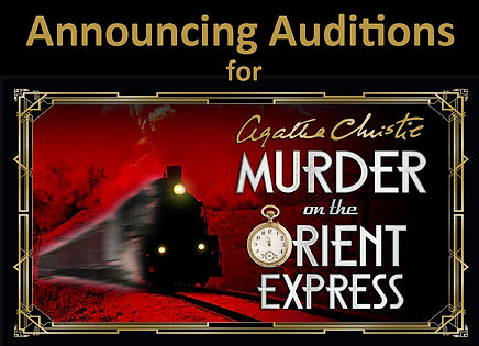 Home page audition announcement graphic.