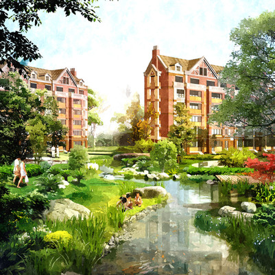 랴오닝성 푸신 녹지 주거단지 계획