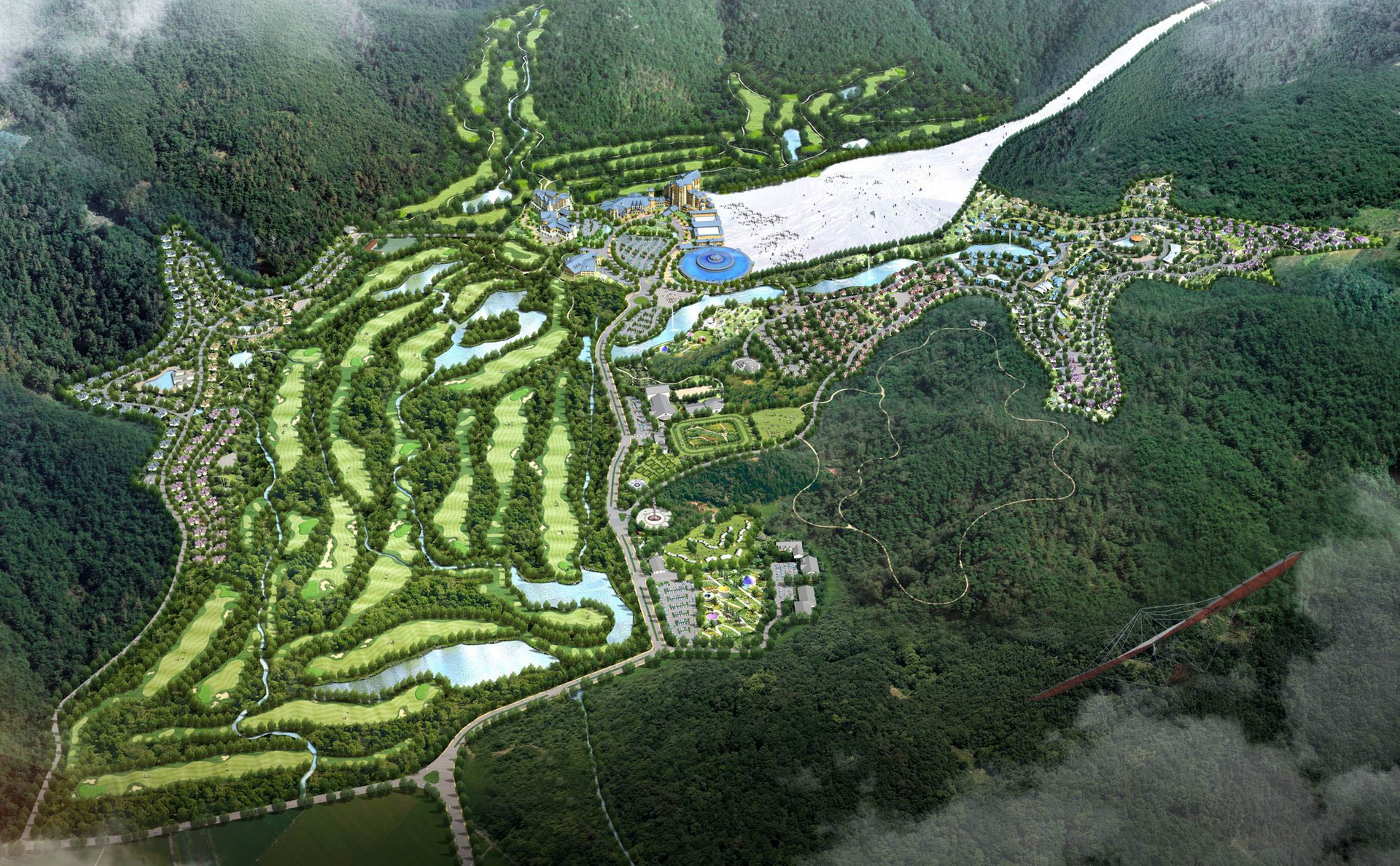 베이징 위양 골프 및 스키리조트 조경설계 1.jpg