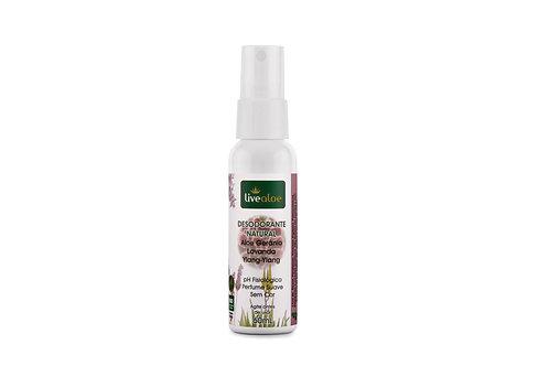 Desodorante Natural Spray Aloe e Gerânio LIVEALOE 60ml