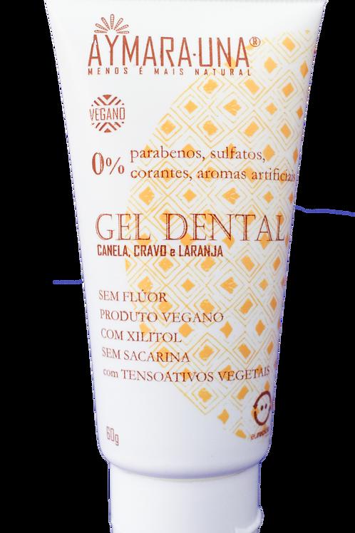 Gel dental cravo, canela e laranja AYMARA-UNA 60g