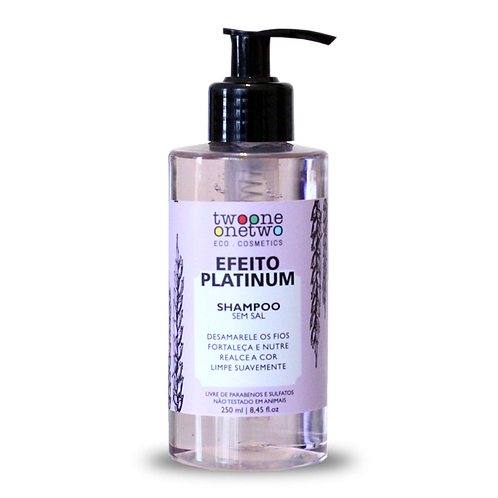 Shampoo Efeito Platinum TWOONEONETWO 250ml