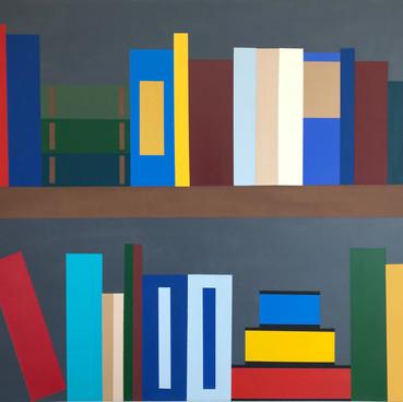 Bookshelf- Acrylic onCanvas 24x36