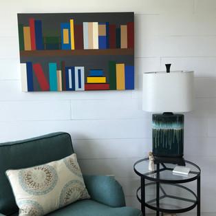 Bookshelf- Acrylic on Canvas 24x36-display