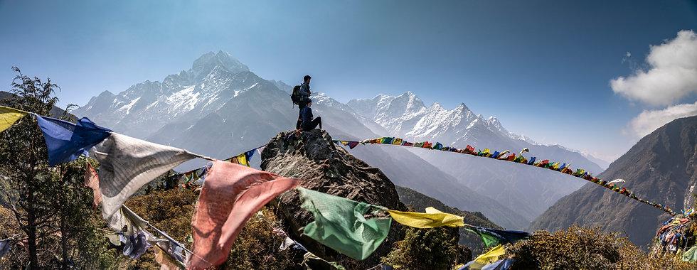 Nepal+Namche+Bazar+Prayer+Flag+Panorama+