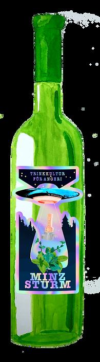 Flasche mit Etikett minz.png