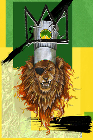 MURAL KING OF THE JUNGLE by NADIA