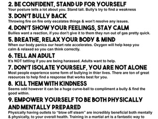 Bully Tips for Life