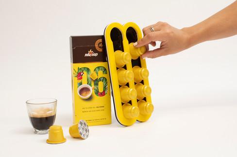 מתקן לקפסולות קפה מתנה להשקה