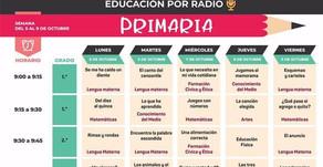 Programación de Clases por Radio Educativa del 5 al 9 de octubre