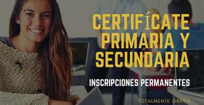 Educación Básica para Adultos: Certifícate en Primaria y Secundaria