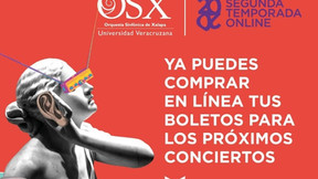 Orquesta Sinfónica de Xalapa: Concierto presencial. 30 de octubre. Tlaqná