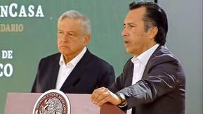 Cuitláhuac García se reúne con AMLO, por tema de inundaciones