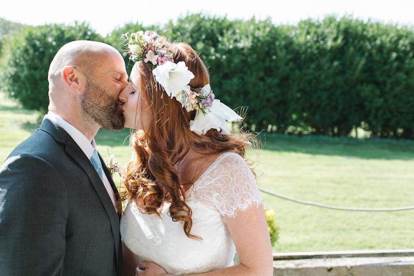 BoHo Cornwall elopement