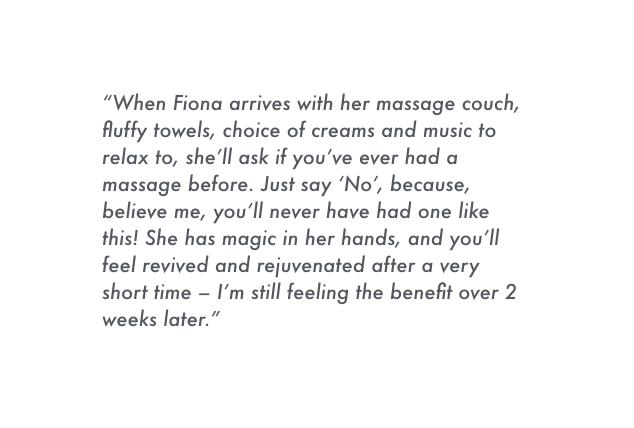 fiona lockhart massage at BoHo Cornw