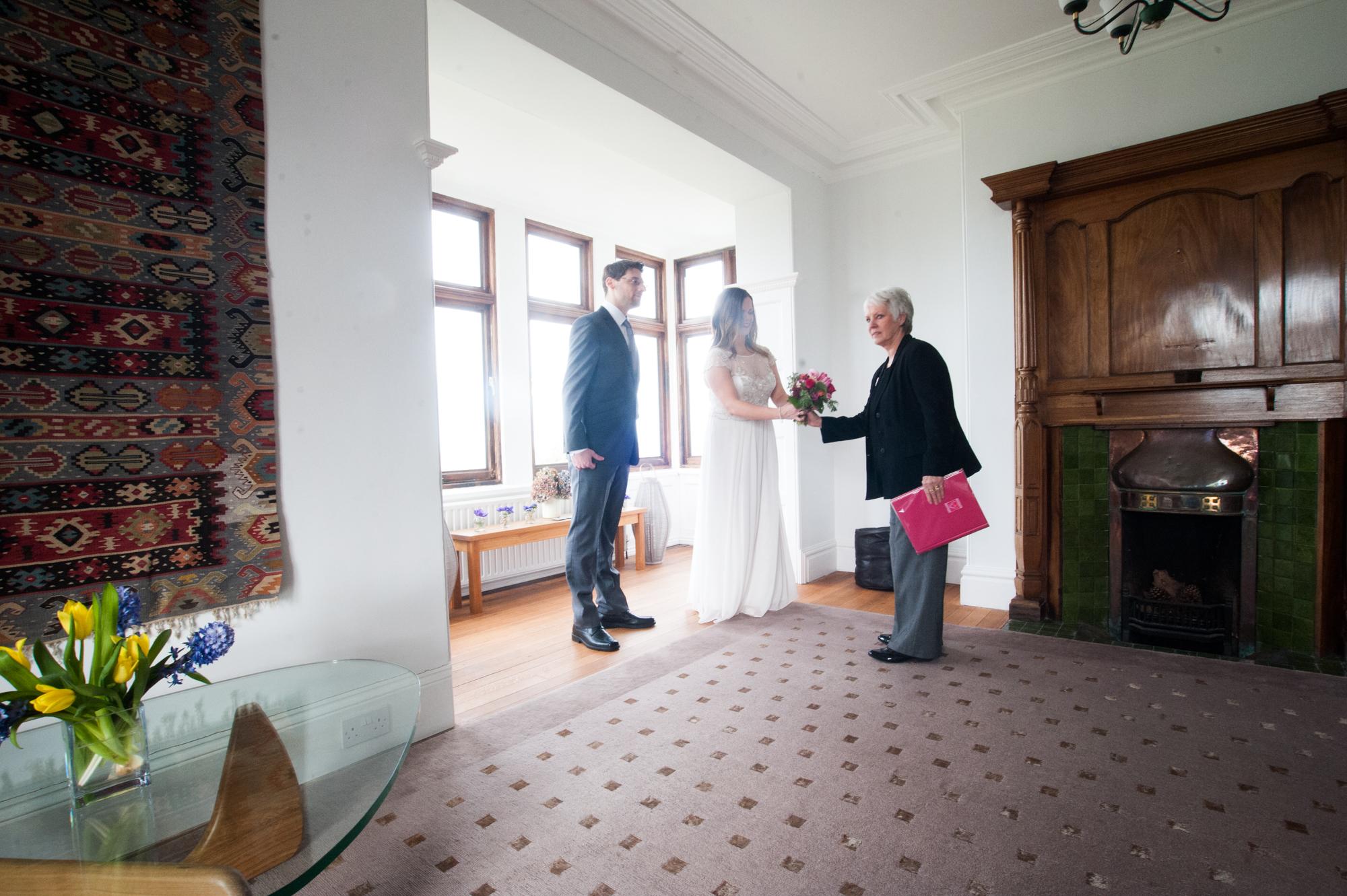 Runaway wedding at BoHO Cornwall