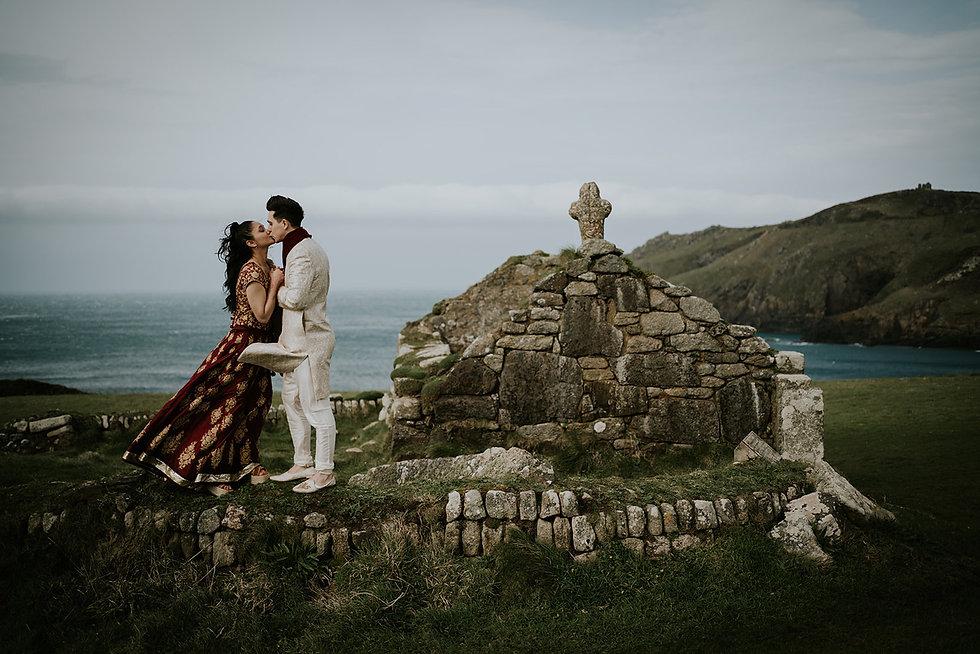 Elopement Photographer Cornwall BoHo sus