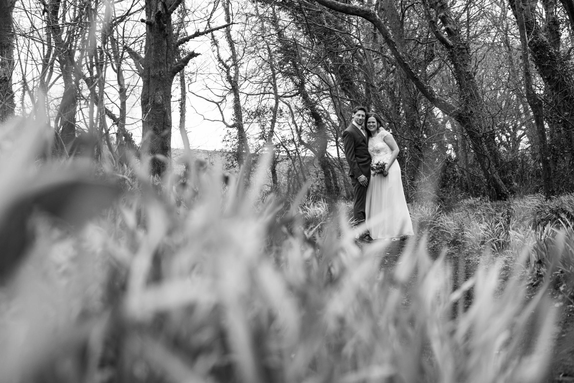Runway wedding at BoHo Cornwall