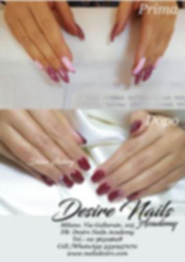 Ritocco in gel unghie square e nail art. Desire Nails