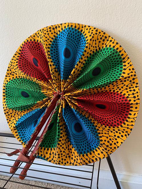 Colorful Print Fan