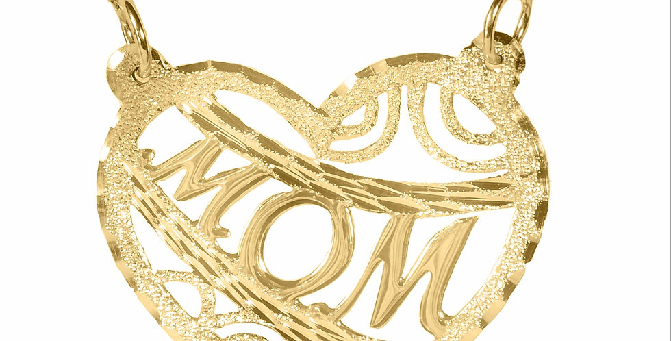Personalize 14K Solid Gold  Heart Name Necklace