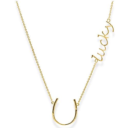 USA Name Necklace |  Custom name necklace, Horseshoe name necklaces