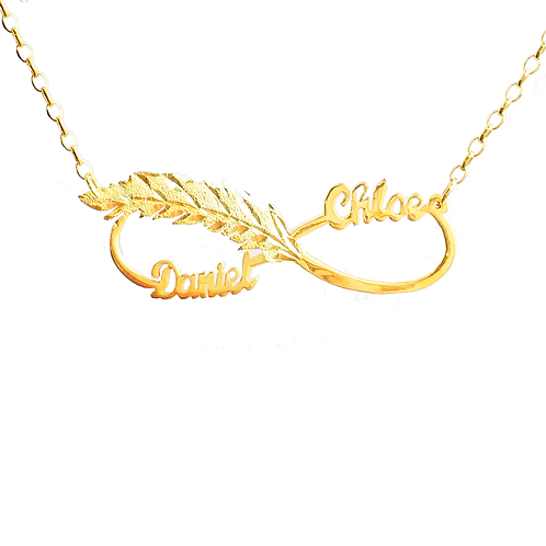 Personalized Gold Plated Infinity Name Necklace