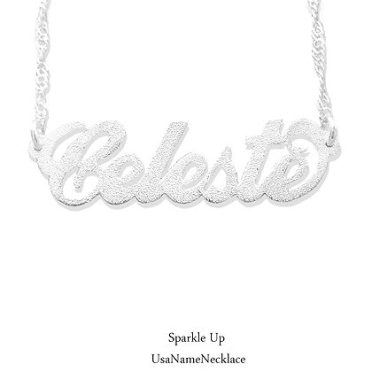Personalized Silver Sparkling Name Necklace