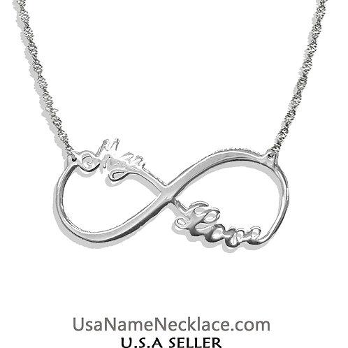 UsaNameNecklace.com | Infinity Jewelry | Infinity Name Necklace