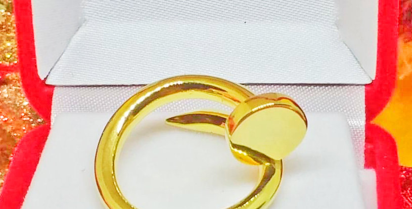 The Nail Ring in 18K Gold Plated