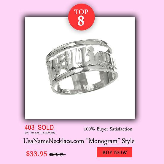 Name Ring , Name Necklace , custom rings , UsaNameNecklace, Name Necklace , Initial Necklace , silver ring , Name Rings ,