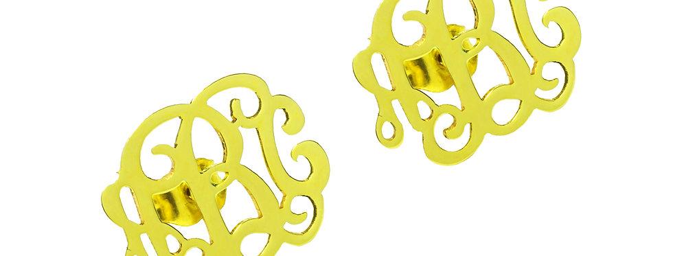 Custom Name Earrings | Monogram Earrings | usanamenecklace.com