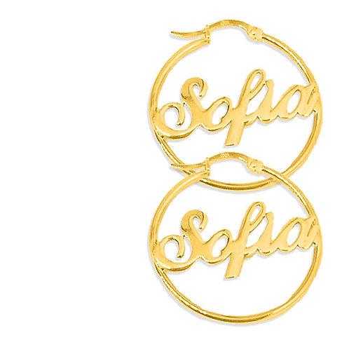 Usa Name Necklace , Hoop Earrings ,Hoop Name Earrings , Name Earrings , UsaNamenecklace