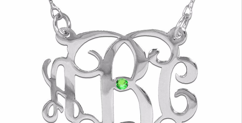 monogram necklace , USA Name Necklace , custom jewelry , monogram jewelry , initial necklace