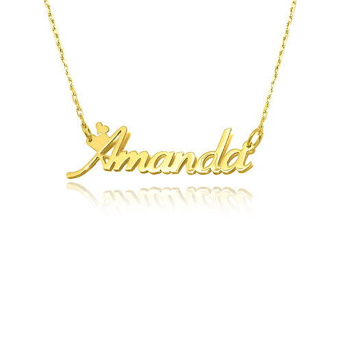 Usa Name Necklace   personalized Jewelry ,Hearts name necklace, Name Necklace, love Name Necklace, Made in USA