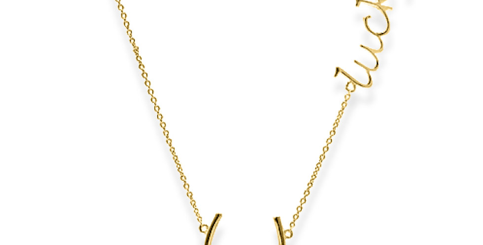 Personalized Name Necklace Sideways