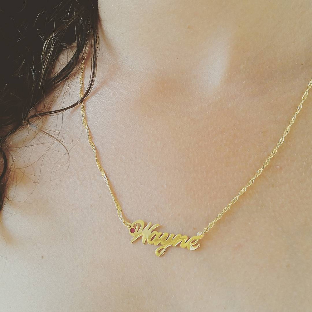 Personalized name necklace, USA Name necklace, Custom jewelry
