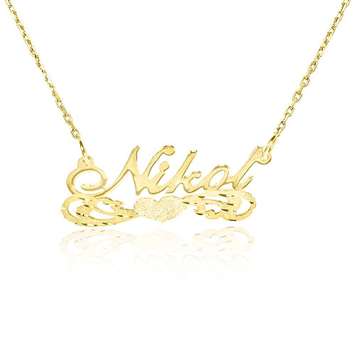 USA Name Necklace , 14k Gold name necklace | Personalized Name Necklace