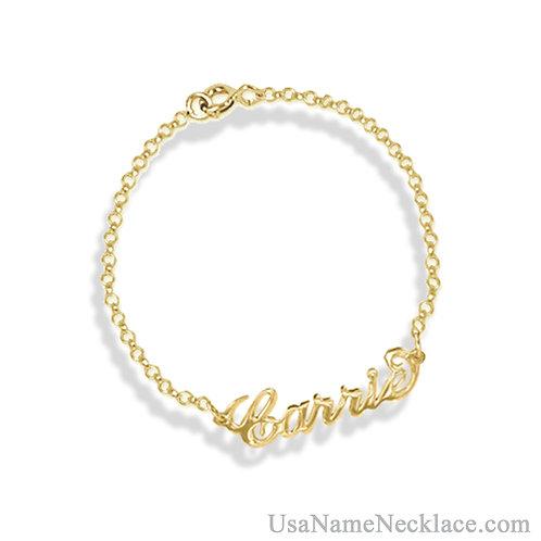 14K Gold Name Bracelet | UsaNamenecklace.com | Personalized jewelry