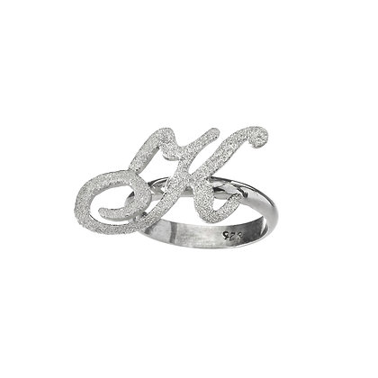 Personalized Sterling Silver Initiel Ring
