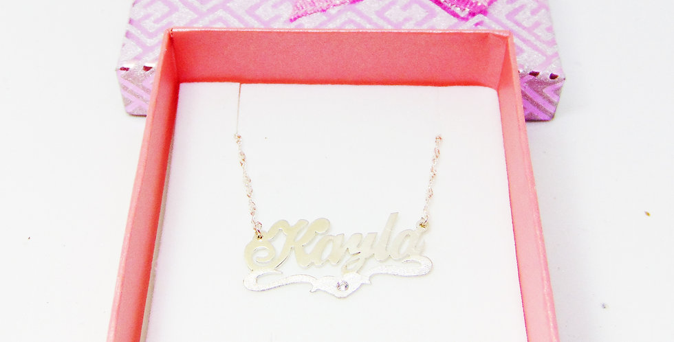 Unique paper box with bow for Name Necklace Earring and Rings