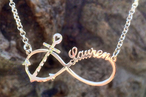 Usa Name Necklace | Infinity Name Necklace | Custom Inifinity Jewelry |