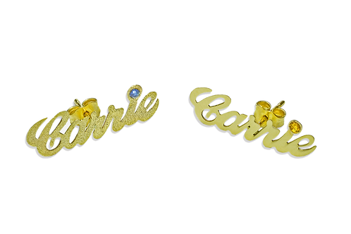 Personalized Name Earrings 18K Gold Plated |  Name Earring