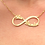 Usa Name Necklace Infinity Name Jewelry