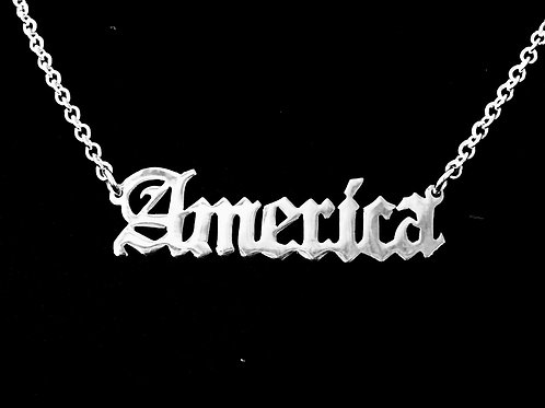 Usa Name Necklace,  gotti name necklace | Old Engilsh Name Necklace | Custom Name Jewelry