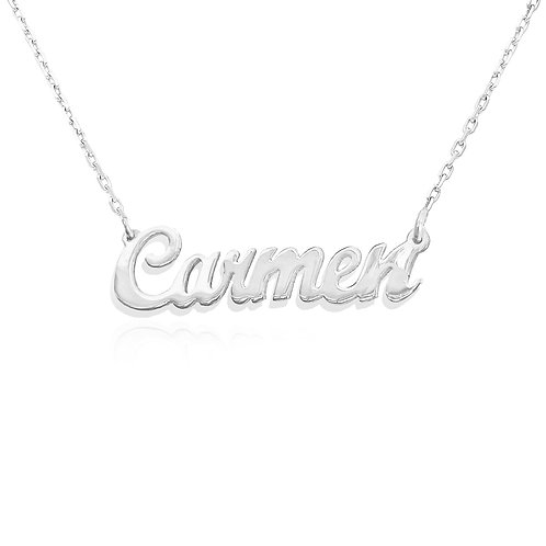 Silver Name Necklace, Usa Name Necklace com | Custom Name Jewelry | United States Name Necklace ,