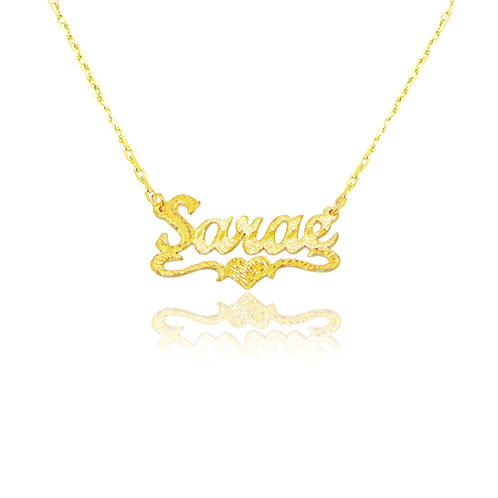 USA Name necklace , Personalized Name Necklace , Gold Name Plate necklace , United States Name Necklace , my Name Necklace