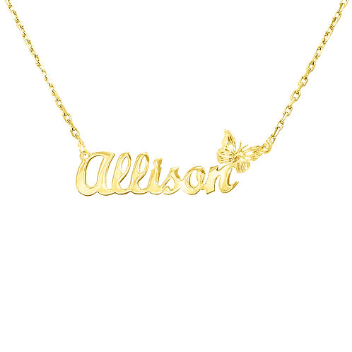 Usa Name Necklace | personalized Jewelry ,Butterfly name necklace, Name Necklace, Name Necklace Made in USA